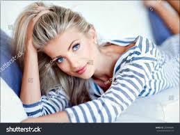 very beautiful sensual blonde stock photo 239984806