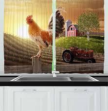 Farmhouse Kitchen Curtains by Farmhouse Kitchen Curtains Amazon Com