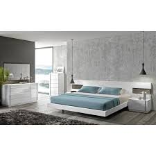 amore white lacquer natural wood 5 pc premium bedroom set by j u0026m