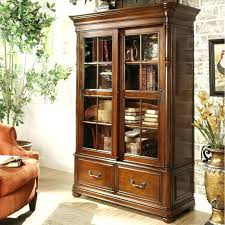 Cherry Bookcase With Glass Doors Bunch Ideas Of Cherry Bookcases With Glass Doors Large Size Of