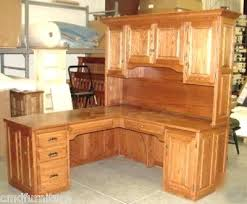 L Shaped Computer Desks With Hutch Oak Desk With Hutch Countrycodes Co