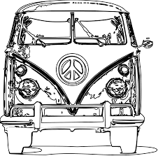 volkswagen bus art vw van clipart 57