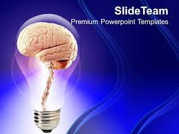 powerpoint psychology templates 1013 brain inside bulb creative