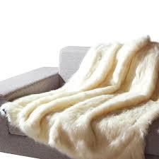 Faux Fur Blanket Queen Faux Fur Throw Mellanni Fine Linens