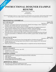 Design Resumes Examples by Instructional Designer Resume Example Resumecompanion Com
