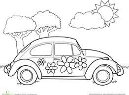 preschool coloring pages bugs vw bug worksheet education com