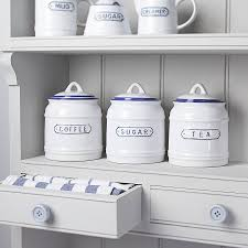 Country Kitchen Canisters Blue And White Ceramic Kitchen Canisters Decoration