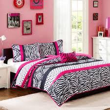 Pink And Black Polka Dot Bedding Your Zone Zebra Reversible Comforter Set Walmart Com