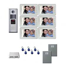 video door intercom systems apartment building door entry security