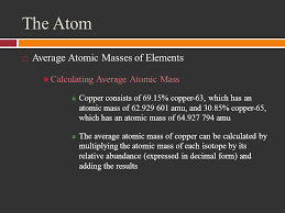 the atom counting the atom objectives explain what isotopes