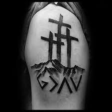 three cross psalm 23 4 tattoos psalm 23