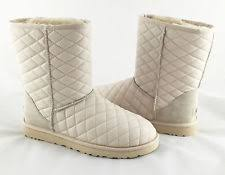 womens boots quilted ugg australia patent leather mid calf s boots ebay