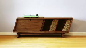 mid century record cabinet build a mid century modern record player cabinet woodworking youtube