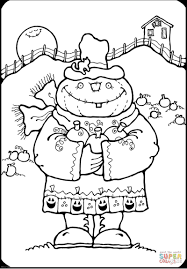 pumpkin scarecrow coloring free printable coloring pages