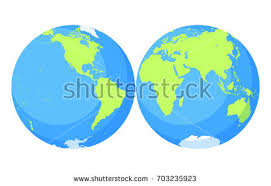 world map globe image vector world map set free vector stock graphics