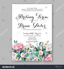 Bridal Shower Invitation Cards Wedding Invitation Card Template Pink Rose Stock Vector 598405832