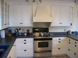 White Kitchen Cabinets With Black Countertops And White Kitchen Ideas
