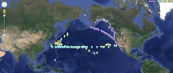Fukushima Fallout Map by Whoi Erases Fukushima Pacific Contamination Data