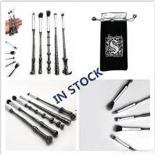 harry potter makeup brushes set metal handle wizard magic wand