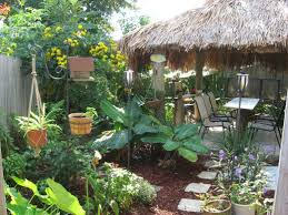 Tropical Backyard Designs Triyae Com U003d Tiki Backyard Ideas Various Design Inspiration For