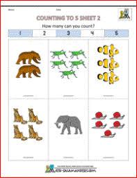 math worksheets preschool