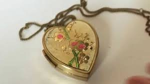 box lockets vintage miniature box pendant with necklace and photo locket
