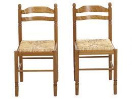 assise de chaise en paille lot de 2 ou 6 chaises jeanne hêtre massif teinté chêne