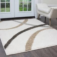 Shag Carpet Area Rugs Nicole Miller Designer Area Rug White Beige Geometric Swirls