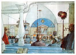at church carl larsson biblioklept