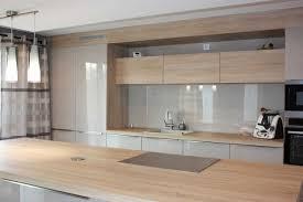 cuisine blanc laqué et bois meuble de cuisine blanc laqué best of cuisine blanche et bois avec