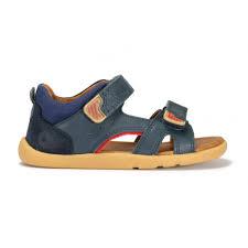 bobux wave navy leather velcro sandal boys from footloose uk