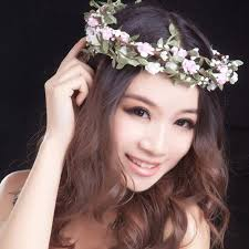flower hair band flower hair band ring flower headwear for festival wedding party