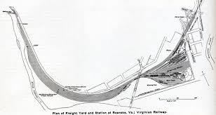 Roanoke Virginia Map by Bruce Harper U0027s Norfolk U0026 Western Pages