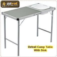 Camp With Sink Portable Folding Fish Cleaning Cutting Table Outdoor - Oztrail camp kitchen deluxe with sink