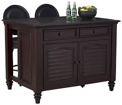 furniture black stained wood portable kitchen island with seating espresso wood portable kitchen island with seating plus 2 drawers for kitchen furniture ideas