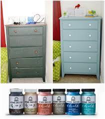 refinishing a kids dresser using folkart home decor chalk and