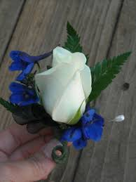 royal blue boutonniere becky s blossoms boutonniere s and corsages