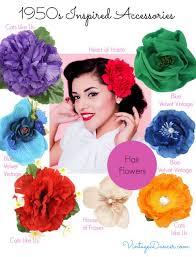 1950s hair accessories 50s hair bandanna headband scarf flowers 1950s hair 1950s