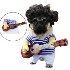 Funny Dog Costumes Halloween Aliexpress Buy Funny Pet Guitar Player Cosplay Dog Costume