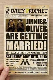 harry potter wedding invitations 10 wedding ideas only harry potter fans will