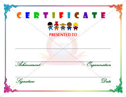 sample certificates for kids kids certificate of completion award