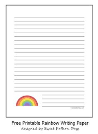 free printable rainbow stationery rainbow stationery perfect for spring for more fun and free
