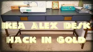 Ikea Desk Hacks by Diy Ikea Alex Desk Hack Youtube