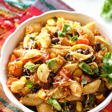 Mexican Pasta Salad Taco Pasta Salad Recipe Salads With Pasta Shells Black Beans