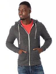 rocky eco fleece zip hoodie alternative apparel