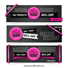 black friday banner black friday sales banners pack vector free download