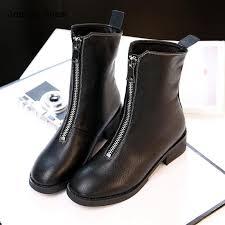 zipper boots s 2017 autumn martin boots front zipper boots s