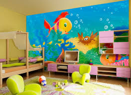 best paint colors for bedroom design ideas funny colorful under sea wall mural themes kids bedroom ideas with purple finish cherry wood wall