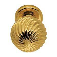 Brass Door Knobs Buy Cosmos Door Knob Polished Brass Finish Online In India From