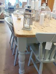 shabby chic farmhouse table shabby chic kitchen table awesome hand painted farmhouse table and